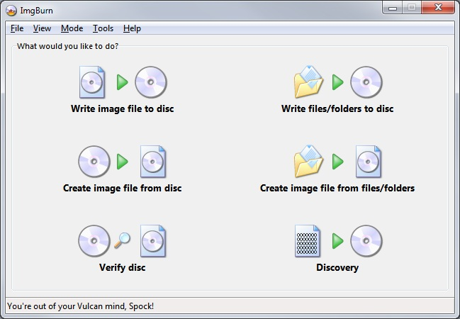imgburn(1) Free, simple CD/DVD Burning Applications